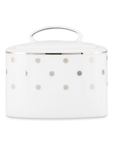 Kate Spade New York Larabee Road Sugar with Lid-WHITE-One Size