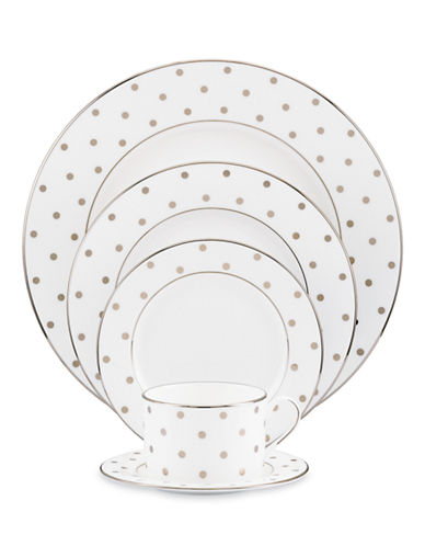 Kate Spade New York Larabee Road 5 Piece Place Setting-WHITE-One Size