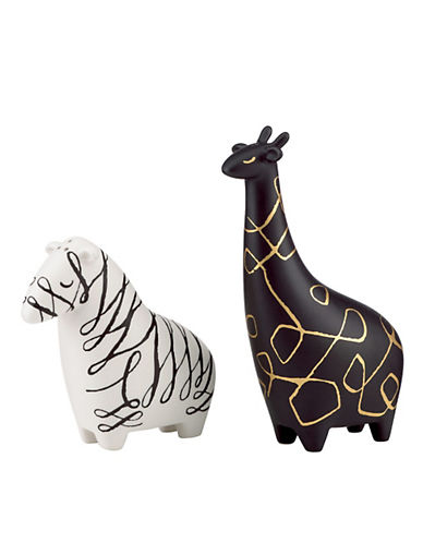 Kate Spade New York Woodland Park Zebra Giraffe Salt And Pepper Set-ASSORTED-One Size