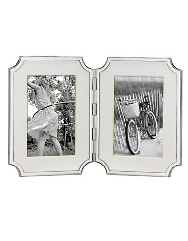 Kate Spade New York Sullivan Street 4In X 6In Hinged Double Frame-SILVER-Large