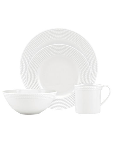 Kate Spade New York Wickford 4 Piece Place Setting-WHITE-One Size
