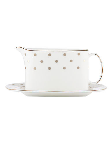 Kate Spade New York Larabee Road Sauce Boat and Stand-WHITE-One Size
