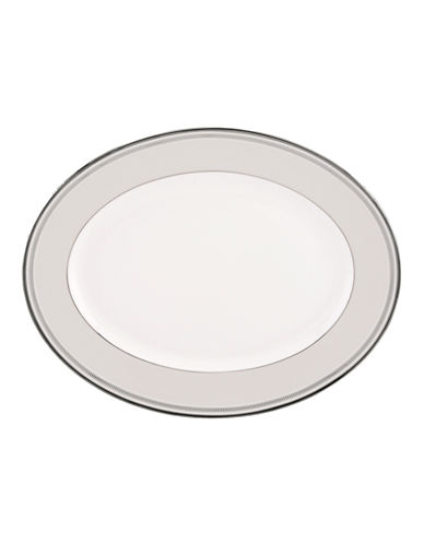 Kate Spade New York Palmetto Bay Oval Platter-WHITE-One Size