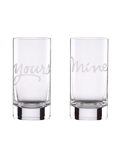 Kate Spade New York Two Of A Kind Mine Yours Hiball Set Of 2-CLEAR-One Size