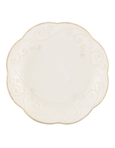 Lenox French Perle White Dessert Plates  Set Of 4-WHITE-One Size