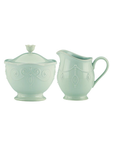 Lenox French Perle Sugar and Creamer Set-BLUE-One Size