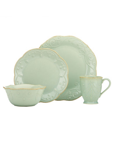 Lenox French Perle Blue 4 Piece Place Setting-GREEN-One Size