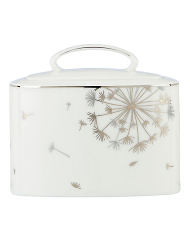 Kate Spade New York Dandy Lane Sugar Bowl with Lid-WHITE-One Size