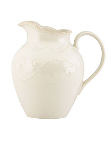 Lenox French Perle Medium Pitcher-WHITE-One Size