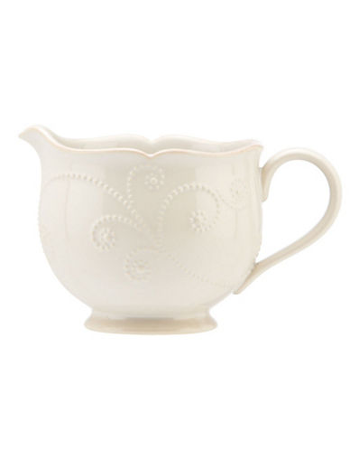 Lenox French Perle White Sauce Pitcher-WHITE-One Size