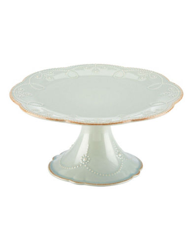 Lenox French Perle Medium Pedestal Cake Plate-LIGHT BLUE-One Size