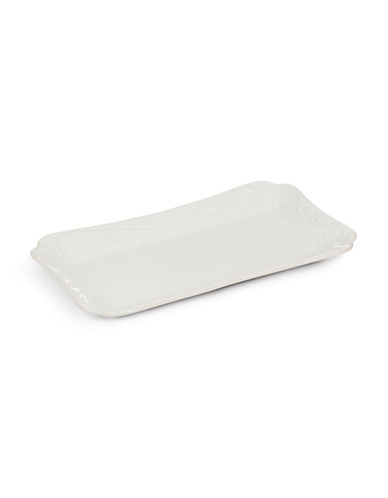 Lenox French Perle Hors d Oeuvre Tray-WHITE-One Size