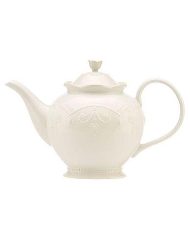 Lenox French Perle White Teapot-WHITE-One Size
