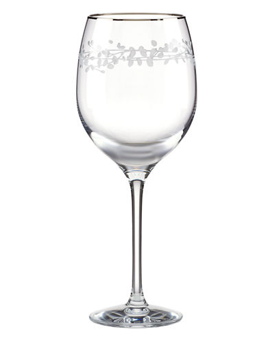 Kate Spade New York Gardner Street Platinum Iced Beverage Glass-CLEAR-One Size