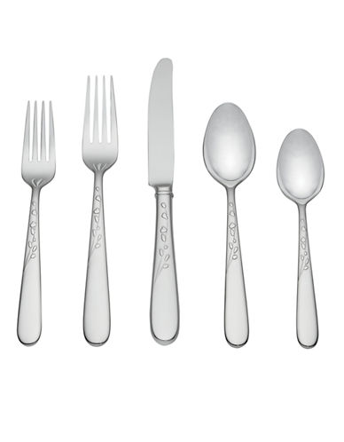 Kate Spade New York Gardner Street Five-Piece Flatware Set-STAINLESS STEEL-One Size