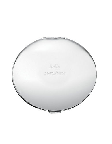 Kate Spade New York Silver Street Compact Mirror-SILVER-One Size