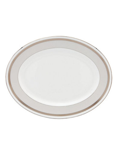 Kate Spade New York Grace Avenue Oval Platter-WHITE/PLATINUM-One Size