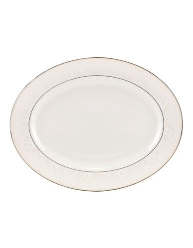 Kate Spade New York Chapel Hill Oval Platter-WHITE-One Size