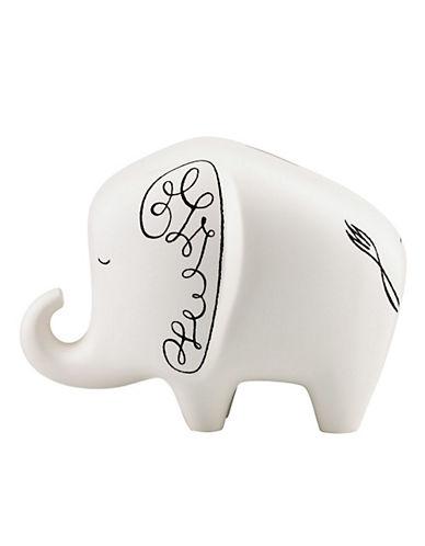Kate Spade New York Woodland Park Elephant Bank-WHITE-One Size