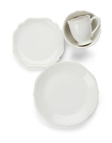 Lenox French Perle Bead 4 Piece Place Setting-WHITE-One Size
