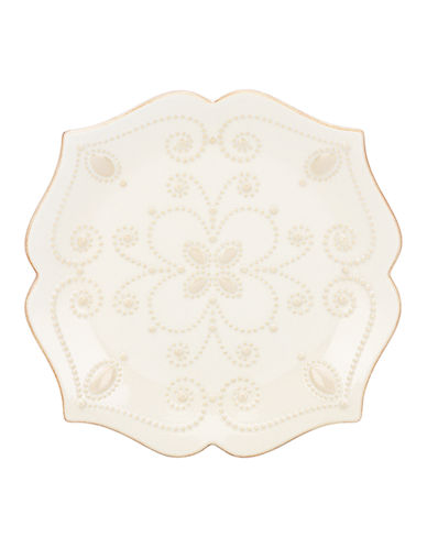 Lenox French Perle Assorted Desserts Plate-WHITE-7 Inches