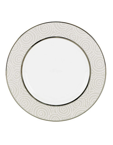 Lenox Pearl beads Accent Plate-WHITE-One Size