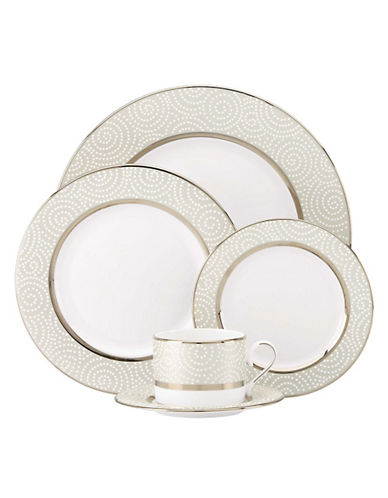 Lenox Pearl Beads 5 Piece Place Setting-WHITE-One Size