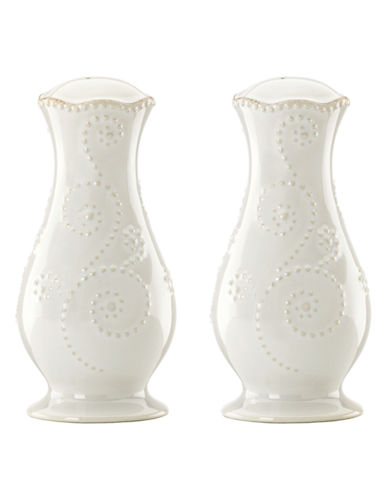 Lenox French Perle White Tall Salt and Pepper Set-WHITE-One Size