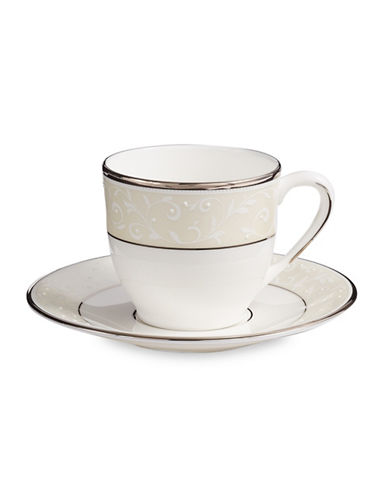 Lenox Opal Innocence Demitasse Cup and Saucer-WHITE-One Size