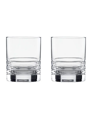 Kate Spade New York Percival Place Double Old Fashion Glasses Set of 2-CLEAR-One Size
