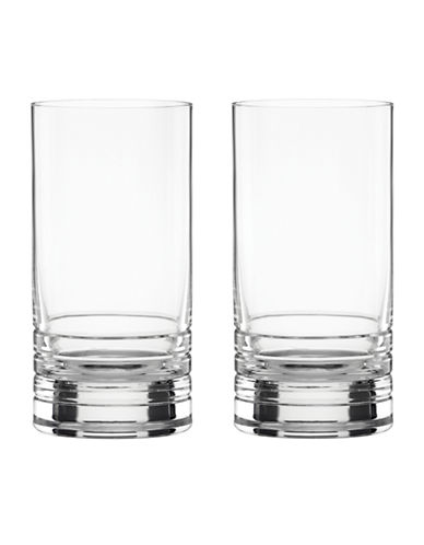 Kate Spade New York Percival Place Hiball Glasses Set of 2-CLEAR-One Size