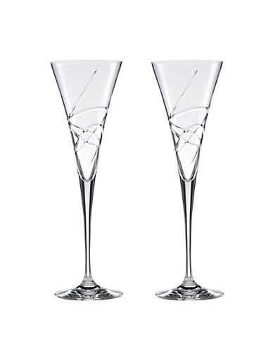 Lenox Adorn Toasting Flute Pair-CLEAR-One Size