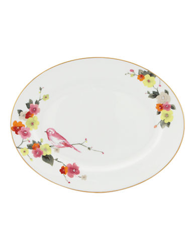 Kate Spade New York Waverly Pond Oval Platter-WHITE-One Size
