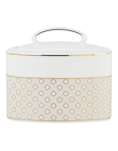 Kate Spade New York Waverly Pond Sugar Bowl-WHITE-One Size