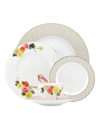 Kate Spade New York Waverly Pond Five-Piece Place Setting-WHITE-One Size