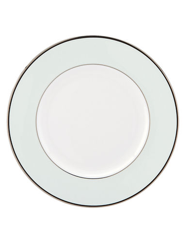 Kate Spade New York Parker Place Accent Plate-WHITE/BLACK-One Size