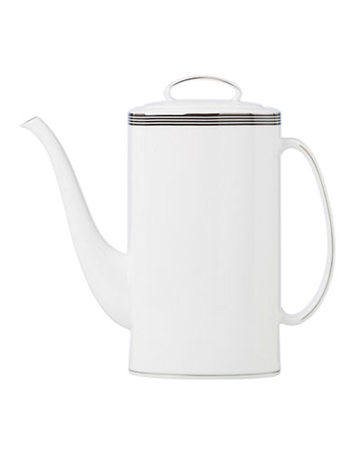 Kate Spade New York Parker Place Coffee Pot with Lid-WHITE/BLACK-One Size