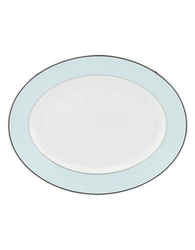 Kate Spade New York Parker Place Oval Platter-WHITE-One Size