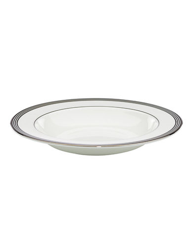 Kate Spade New York Parker Place Pasta/ Rim Soup-WHITE/BLACK-One Size