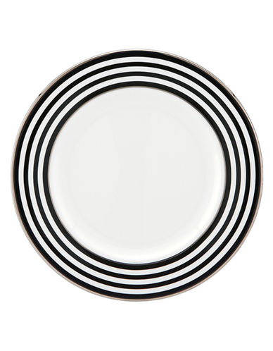 Kate Spade New York Parker Place Salad Plate-WHITE/BLACK-8