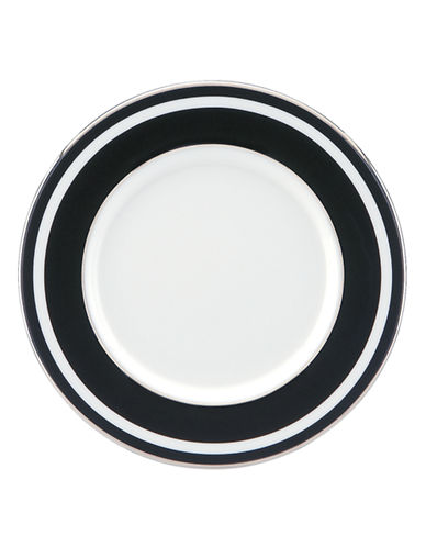 Kate Spade New York Parker Place Saucer-WHITE/BLACK-5 Inches