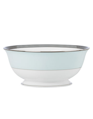 Kate Spade New York Parker Place Serving Bowl-WHITE/BLACK-8.5 Inches