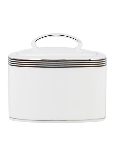 Kate Spade New York Parker Place Sugar with Lid-WHITE/BLACK-One Size