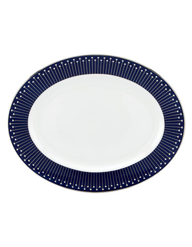 Kate Spade New York Mercer Drive Oval Platter-WHITE-One Size