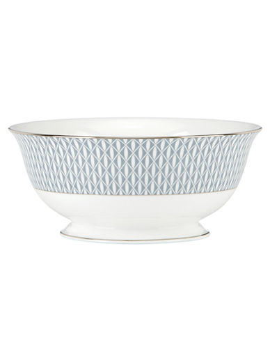 Kate Spade New York Mercer Drive Serving Bowl-WHITE-8.5 Inches