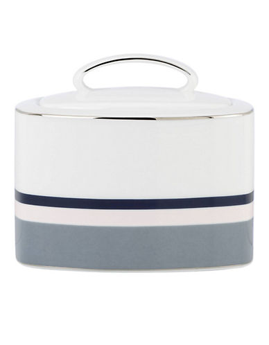 Kate Spade New York Mercer Drive Sugar with Lid-WHITE-One Size