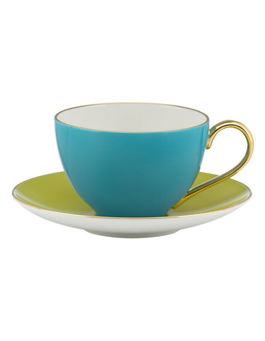 Kate Spade New York Greenwich Grove Cup and Saucer Set-MULTI COLOURED-One Size