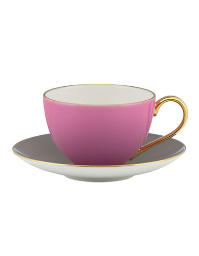 Kate Spade New York Greenwich Grove Cup and Saucer Set-PINK-One Size