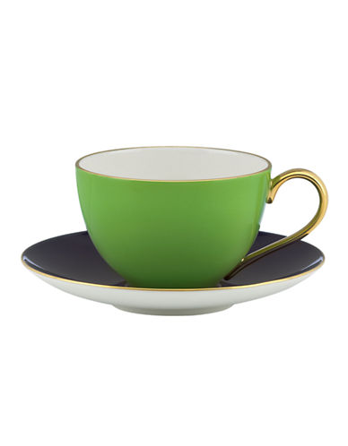 Kate Spade New York Greenwich Grove Cup and Saucer Set-GREEN-One Size 85986632_GREEN_One Size