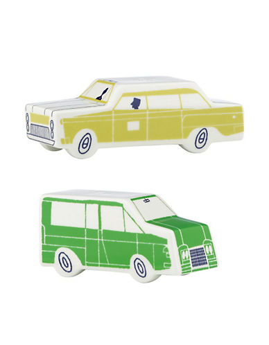 Kate Spade New York About Town Car Salt and Pepper Set-GREEN & YELLOW-One Size